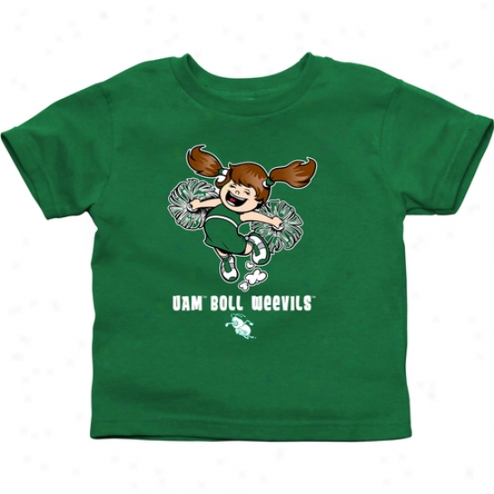 Arkansas At Monticello Boll Weevils Infant Cheer Squad T-shirt - Green