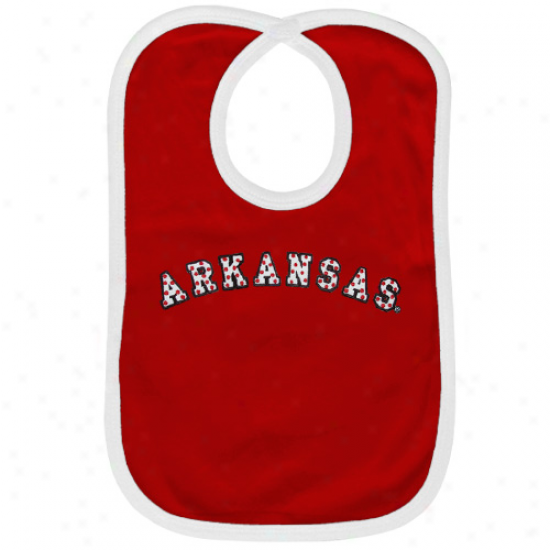 Arkansas Razorbacks Cardinal Pokla Dot Twill Bib