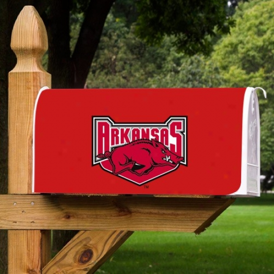 Arkansas Razorbacks Cardinal Team Logo Mailbox Cover