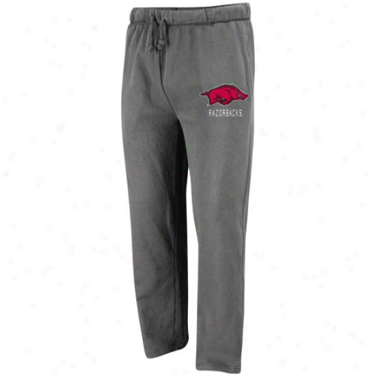 Arkansas Razorbacks Charcoal Empire Fleece Pants