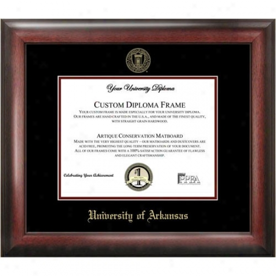 Arkansas Razorbacks Gold Embossed Diploma Frame
