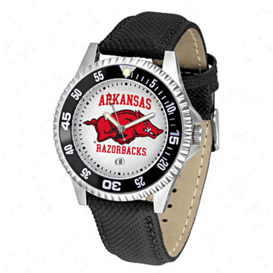 Arkansas Razorbacks Leather Competitor Sport Watch