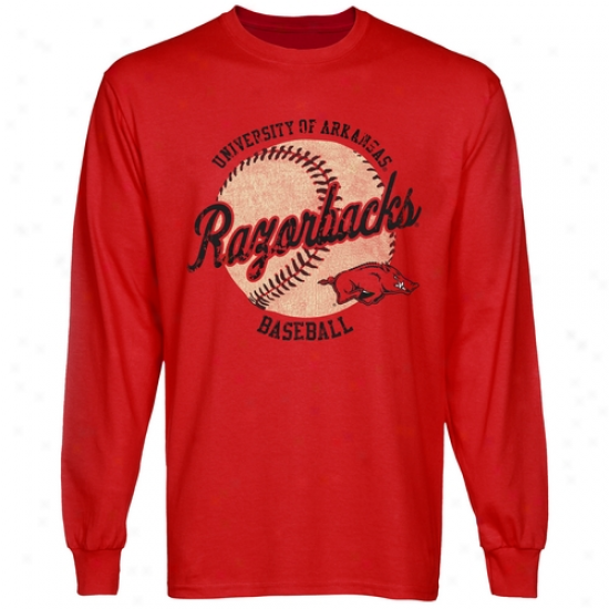 Arkansas Razorbacks Original Pastime Long Sleeve T-shirt - Cardinal