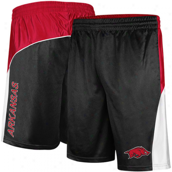 Arkansas Razorbacks Patriot Workout Shorts - Blaxk-cardinal