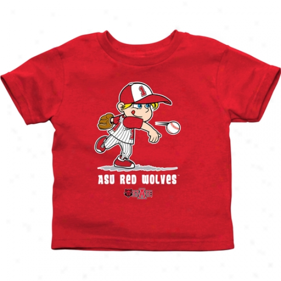 Arkansas State Red Wolves Toddler Boys Baseball T-shirt - Red