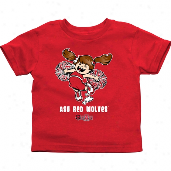Arkansas State Red Wolves Toddler Cyeer Squad T-shirt - Red