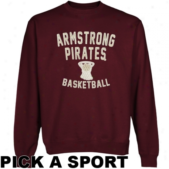 Armstrong Atlantic Pirates Legacy Crew Neck Fleece Sweatshirt - Maroon