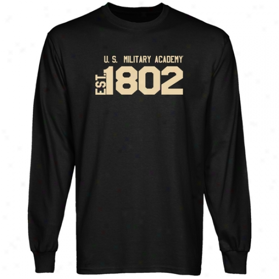 Army Black Knights Black Est. Date Long Sleeve T-shirt
