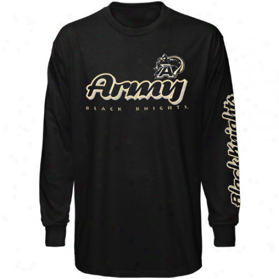 Army Black Knights Youth Two Hit Long Sleeve T-short - Black