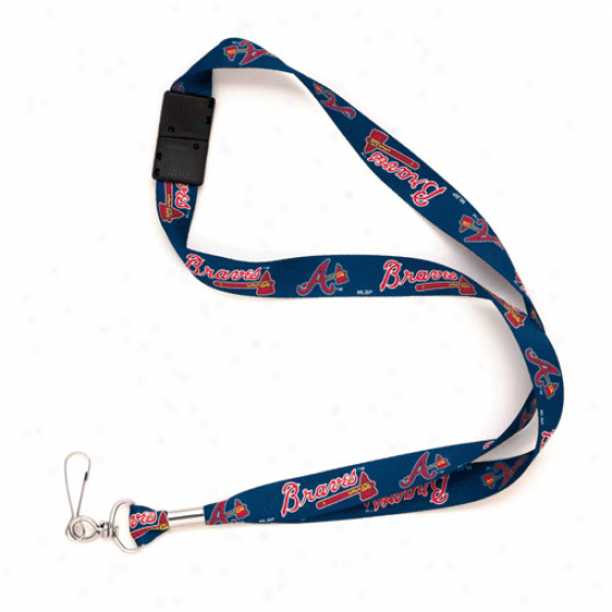 Atlanta Braves Navy Blue Mlb Event Lanyard