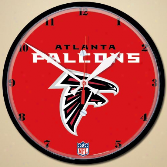Atlanta Falcons 12'' Round Wall Clock