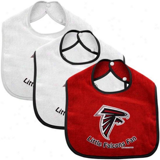 Atlanta Falcons Infant 3-pack Litte Fan Bib Set