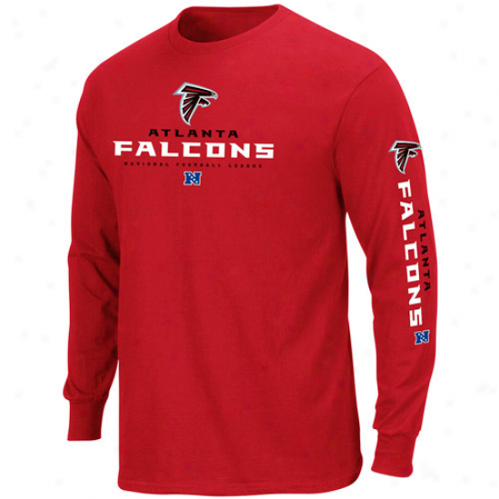 Atlanta Falcons Elementary Receiver Ii Long Sleeve T-shirt - Red