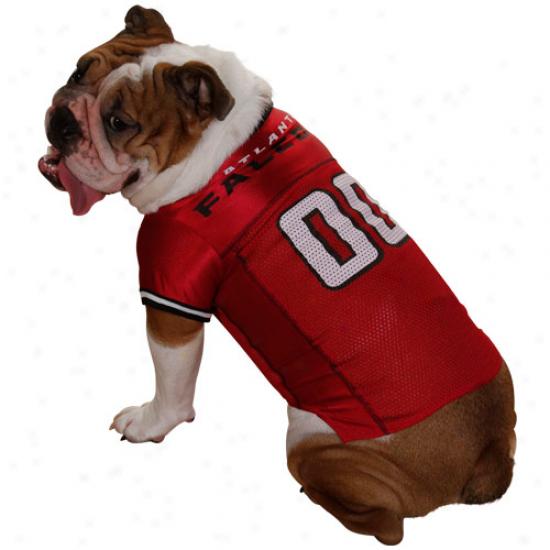 Atlanta Falcons Red Mesh Pet Football Jersey