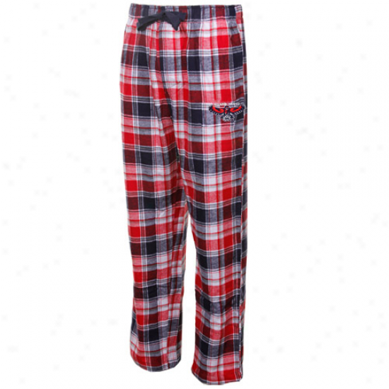 Atlanta Hawks Reed-navy Blue Plaid Legend Flannel Pants