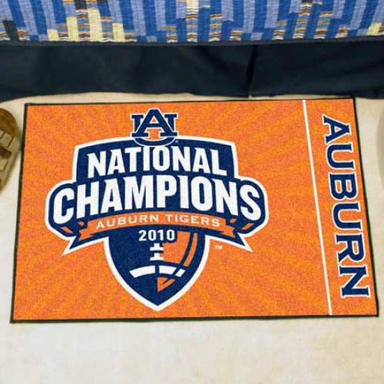 """auburn Tigers 20"""" X 30"""" 2010 Bcs National Champions Orange Starter Mat"""
