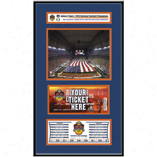 Auburn Tigers 2010 Bcs National Champions Ticket Construct Jr.