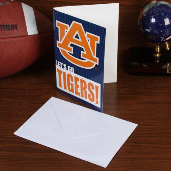 Auburn Tigers 5'' X 7'' Musical Card