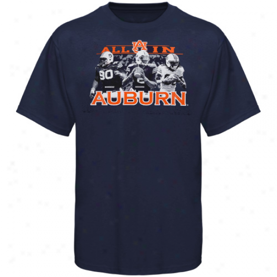 Auburn Tiers Big Three Player T-shirt - Navy Blue