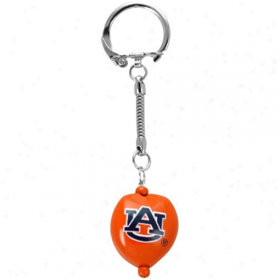 Auburn Tigers Buent Orange Kukui Keychain