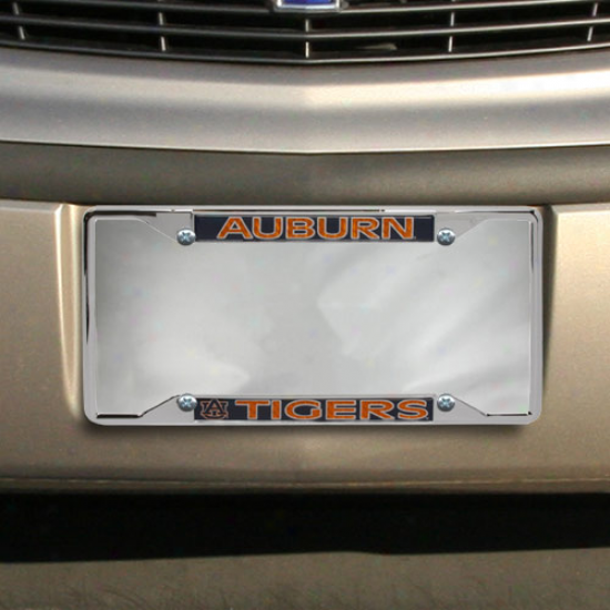Auburn Tigers Chrome License Plate Frame