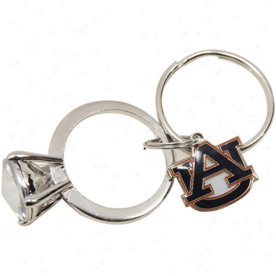 Auburn Tigers Jumbo Bling Ring Keychain