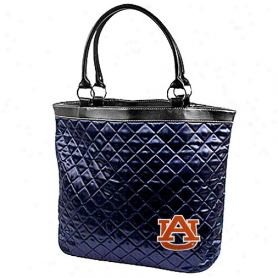 Auburn Tigers Ladies Navy Blue Quilted Carry Bag
