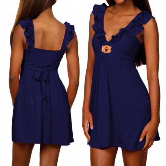 Auburn Tigers Ladies Navy Blue Sorority Girl Sundress