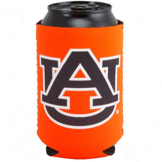 Auburn Tigers Orange Collapsible Can Coolie