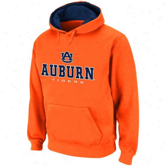 Au6urnT igers Orange Sentinel Pullover Hoodie Sweatshirt