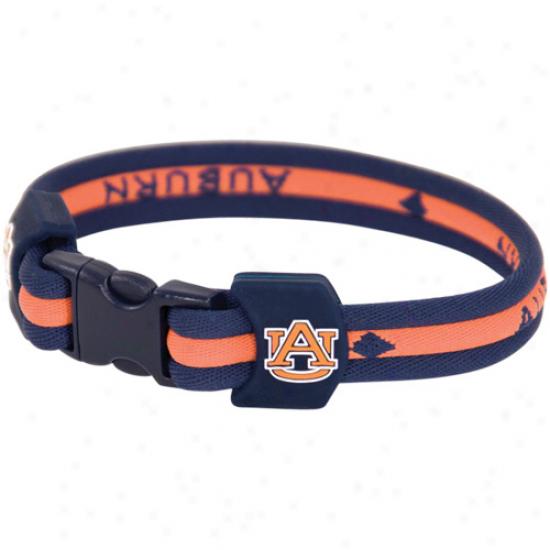 Auburn Tigers Titanium Sports Bracelet