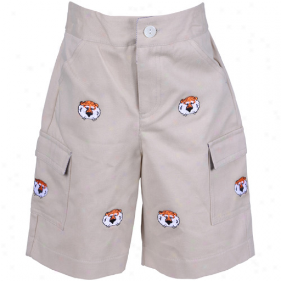 Auburn Tigers Toddler Khaki Logo Cargo Shorts