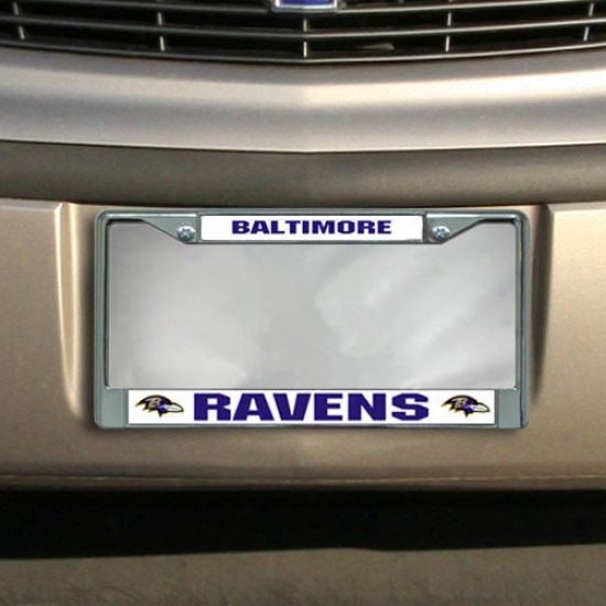 Baltimore Ravens Chrome-white License Plate Frame
