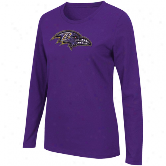 Baltimore Ravens Ladies Jazzed Up Long Sleeve T-shirt - Purple