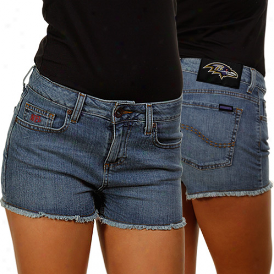 Baltimore Rvans Ladies Tight End Jean Shorts