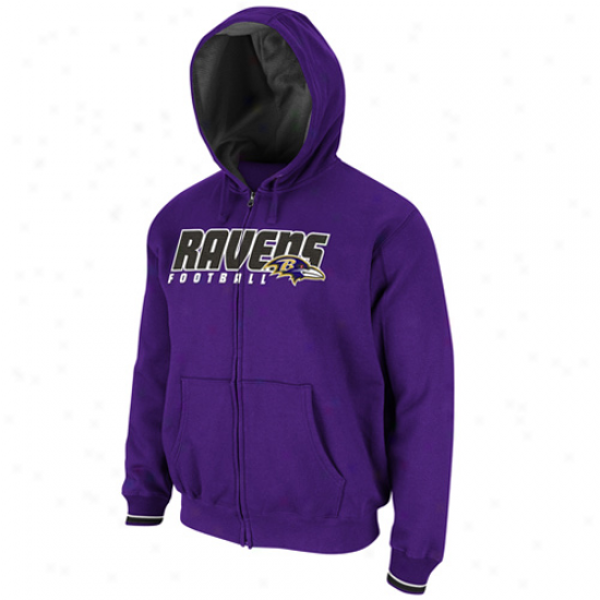 Baltimore Ravens Purple Overtime Glory Full Zip Hoodle Sweatshirt