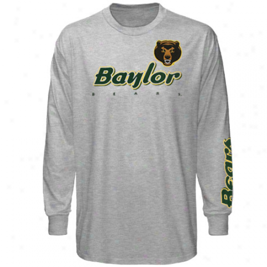 Baylor Bears Youth Two Hot Long Sleeve T-shirt - Ash