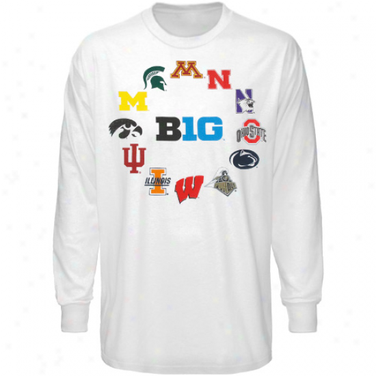 Big Ten Conference Youth Huddle Up Lengthy Sleeve T-shirt - Whit