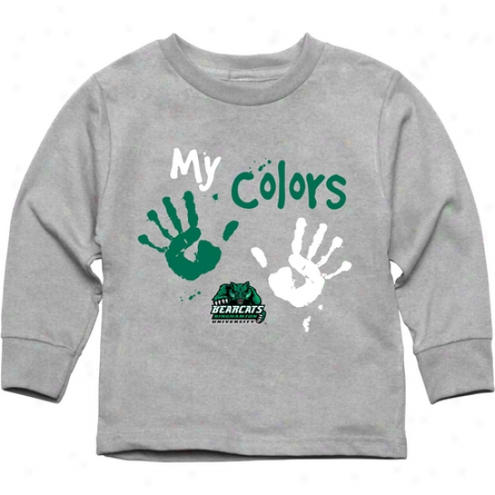 Binghamton Bearcats Toddler My Colors Long Sleeve T-shirt - Ash