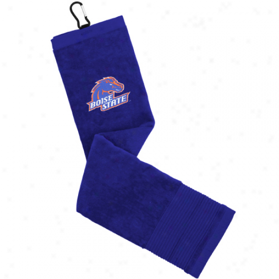 Boise State Broncos Royal Blhe Embroidered Face/club Golf Towel