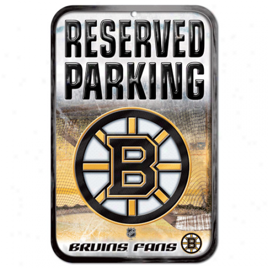 Boston Bruins 11'' X 17'' Reserved Parking Sign