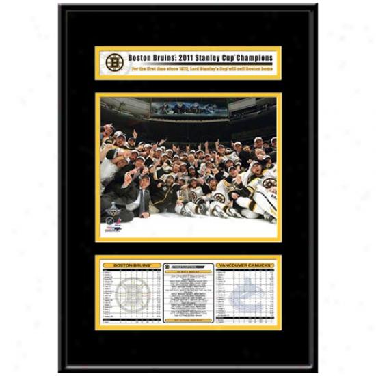 Boston Bruins 2011 Nhl Stanley Cup Champions Team Celebration Frame