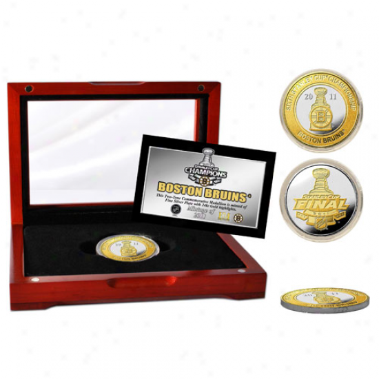 Boston Bruins 2011 Nhl Stanley Cup Champions Two-tone Silver Coin