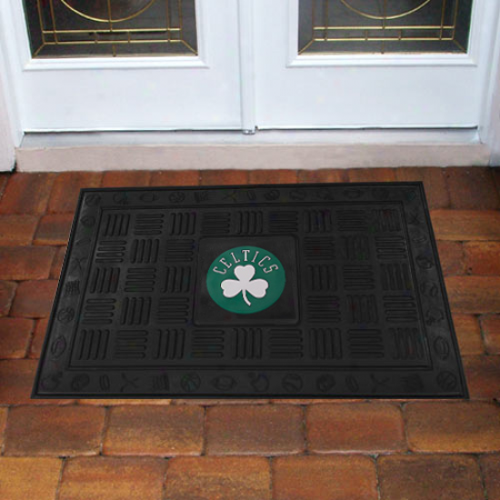 Boston Celtics 18'' X 30'' Team Logo Rubber Mat - Black