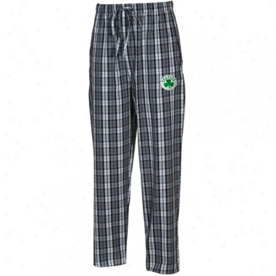 Boston Celtics Gray Plaid Historic Pajama Pants