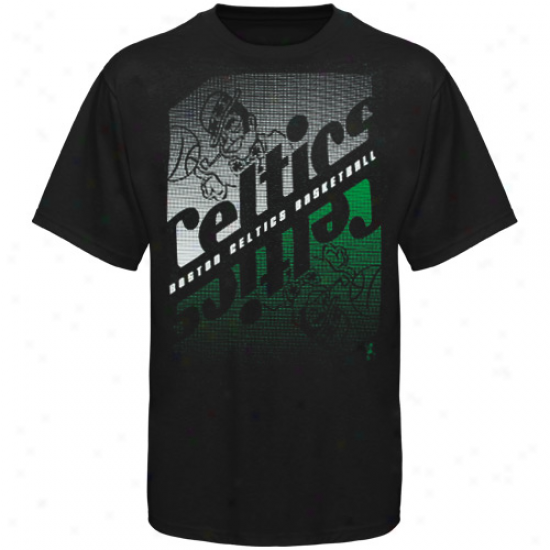 Boston Celtics Youth Crossfade T-shift - Black
