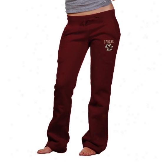 Boston Society Eatles Maroon Game Day Fleece Sweatpants
