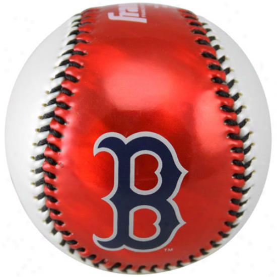 Boston Red Sox Metallic Soft Strike Baseball
