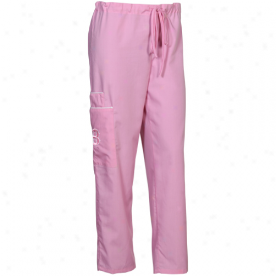Boston Red Sox Unisex Pink Scrub Pants