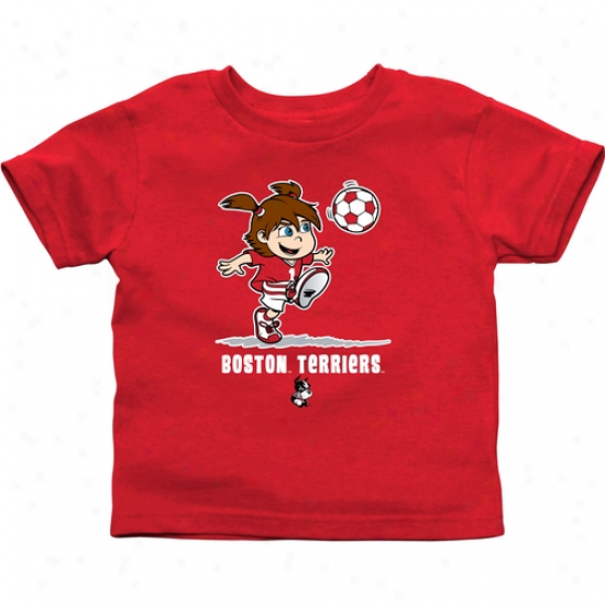 Bostoon Terriers Infant Girls Soccer T-shirt - Scarlet